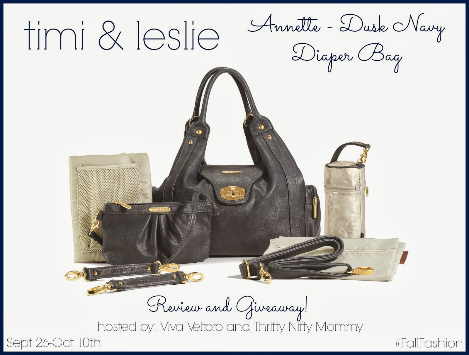 timi leslie annette diaper bag review and giveaway fallfashion thrifty nifty mommy. Black Bedroom Furniture Sets. Home Design Ideas