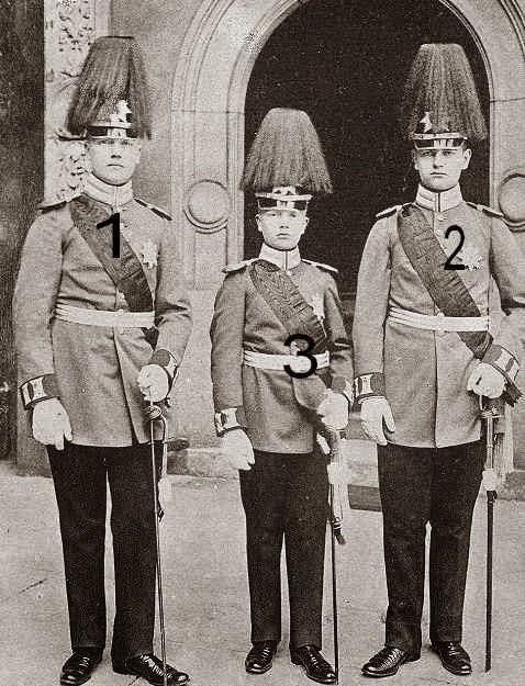Georg, Friedrich Christian et Ernst Heinrich de Saxe