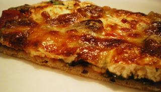 pizza espinacas-queso cabra-comosinoexisiteraelmañana