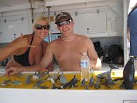 Crew members Andrea and Adam