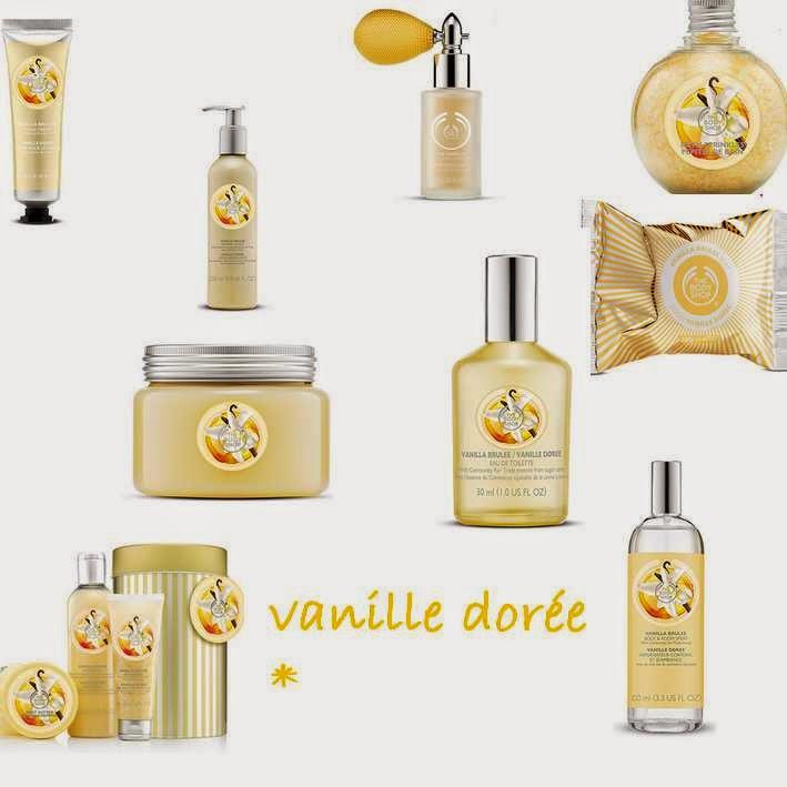 the body shop, edition noel, vanille dorée, gel douche, brume, sel de bain, gelée de douche, savon, coffret, paillettes, pparfum, eau de toilette