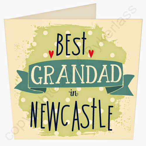 Best Grandad in Newcastle Father's Day Card