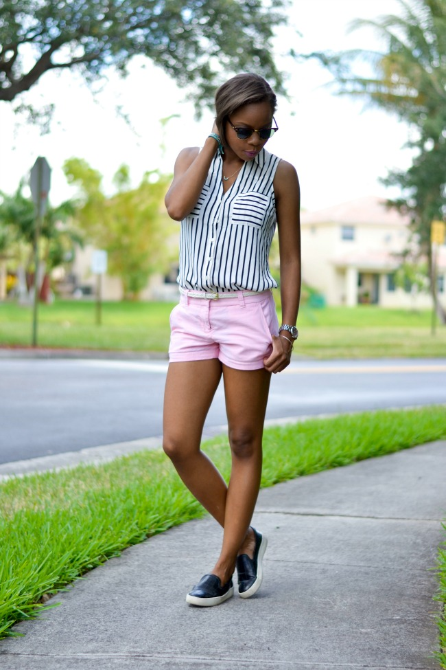 Stripes & Chino Shorts | Summer Outfits