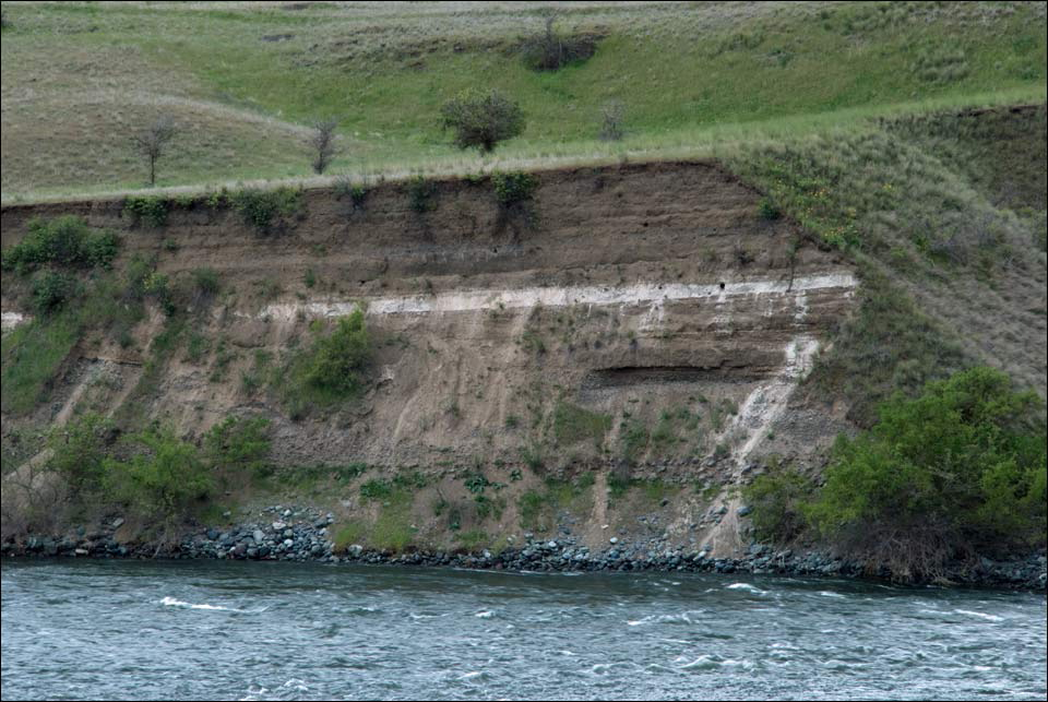 Hells Canyon Mazama Ash layer along the Snake River.