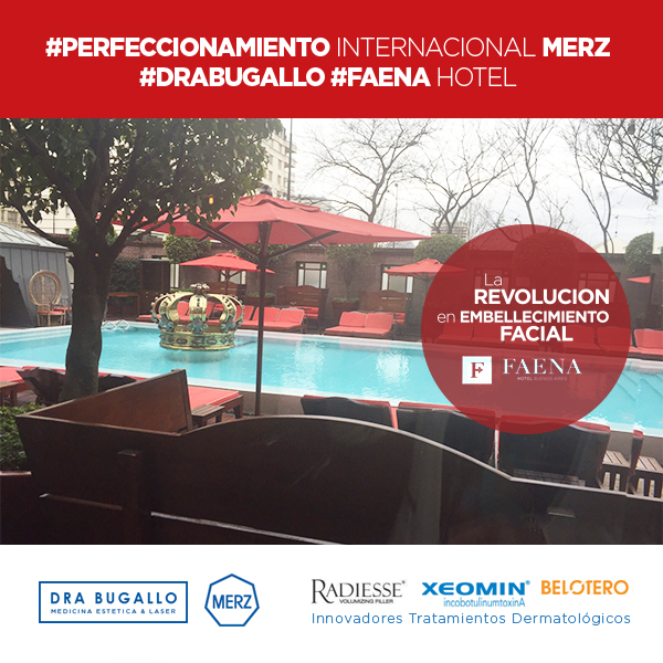 PERFECCIONAMIENTO INTERNACIONAL MERZ ( FAENA HOTEL). Gracias a Merz Aesthetics, Julio Zapico y Agustina Cattena por la formación continua, a la Dra Arbelia Bermúdez y muy especialmente a la Dra Tatjana Pavicic por la claridad formando y perfeccionándonos en las últimas técnicas de Fillers y Xeomin.      #ChauArrugas #BienvenidaJuventud, #MamasMasLindas, #EsteticaBugallo, #DraBugallo     #20PorcientoDeDescuento, #ChauArrugas, #BienvenidaJuventud. #ReservaTuTurno. Rellenos de #AcidoHialurónico y #EstimulacióndeColágeno (#Belotero + #Radiesse) + #ToxinaBotulinica (#Xeomin). Ya estan llegando los mejores e Innovadores Tratamientos Dermatológicos (XEOMIN, RADIESSE Y BELOTERO). #ChauArrugas #BienvenidaJuventud, #MamasMasLindas, #EsteticaBugallo, #DraBugallo.
