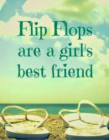 Flip flops on the beach photograph with quote