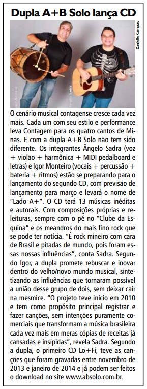 Máteria do Jornal Cidade