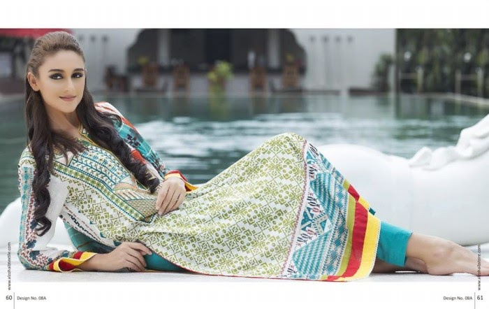 Anaya Embroidered Women Dresses 2015 by Al-Zohaib Textile