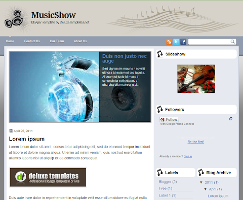 Music Show Blogger Theme