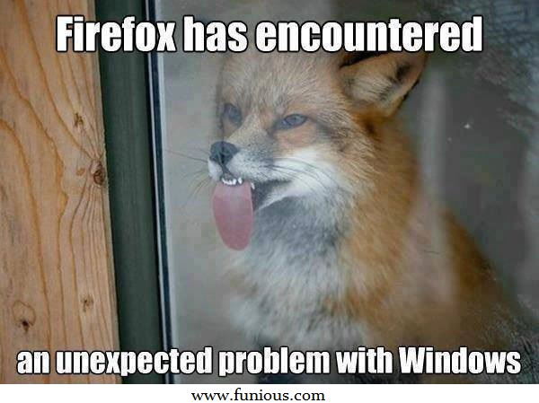 Firefox Has Encountered Funny Images