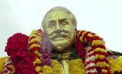 Respect for Sivaji Statue