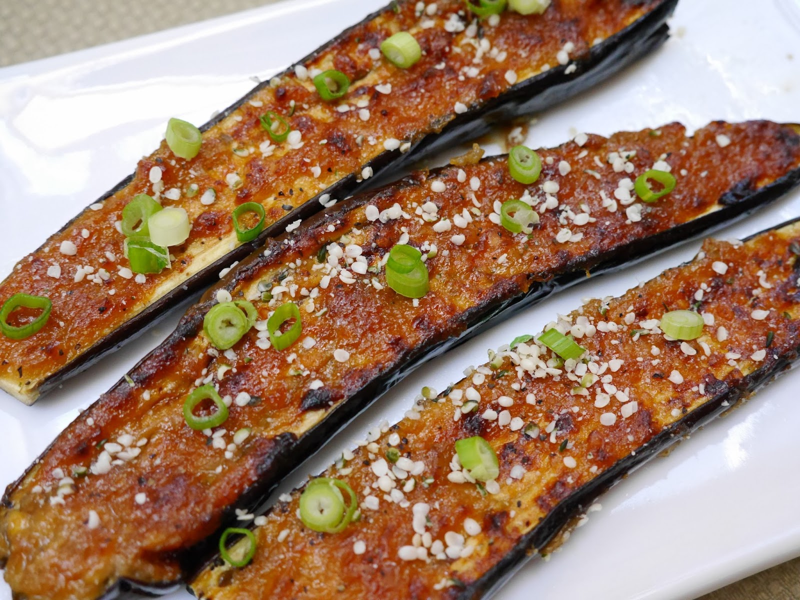 Foods For Long Life: Miso And Ginger Glazed Eggplant - Vegan And ...