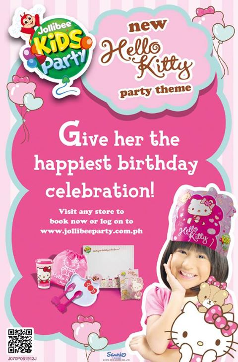 Foodie craft jollibees hello kitty birthday party jollibee makes it very convenient for parents to plan for their childrens dream birthday party with a variety of party food packages or go with the stopboris Gallery