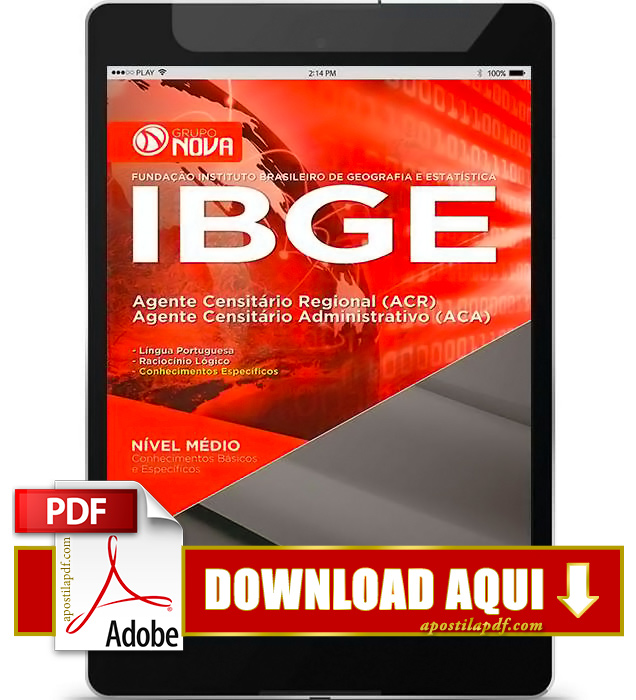 Apostila IBGE Agente Censitário Regional PDF Download 2016