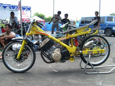 modifikasi motor drag satria fu, foto motor drag satria fu