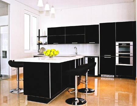 Gabinetes de cocina negros muy elegantes cocina y muebles for Cocinas elegantes