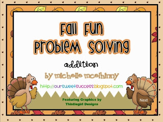 http://www.teacherspayteachers.com/Product/Fall-Fun-Problem-Solving-Addition-982083