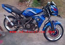modifikasi motor ninja r warna biru terkeren
