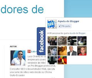 Caja de seguidores de facebook Popout para blogger