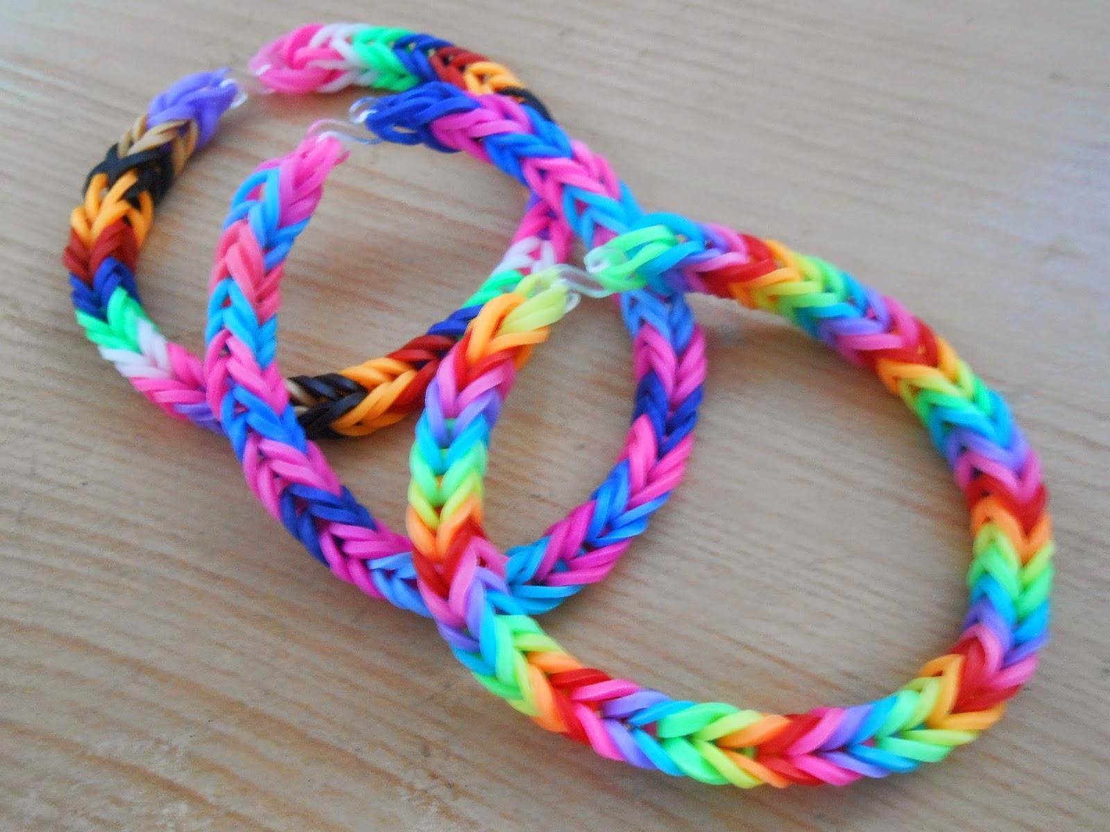 Les loisirs de patouch bracelets en lastiques - Comment faire bracelet elastique ...