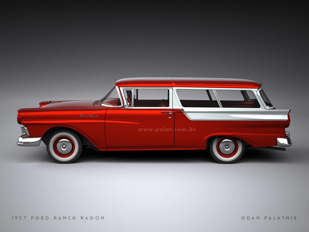 A garagem digital de dan palatnik the digital garage for 1957 ford 2 door ranch wagon