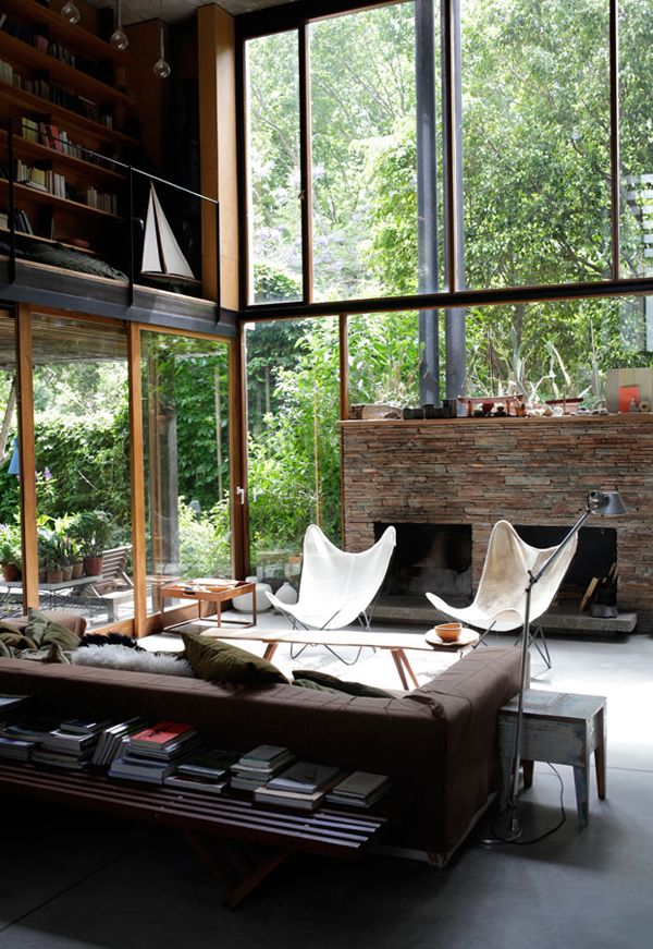 Lunch Latte Space A Living Room Surrounded By Greenery