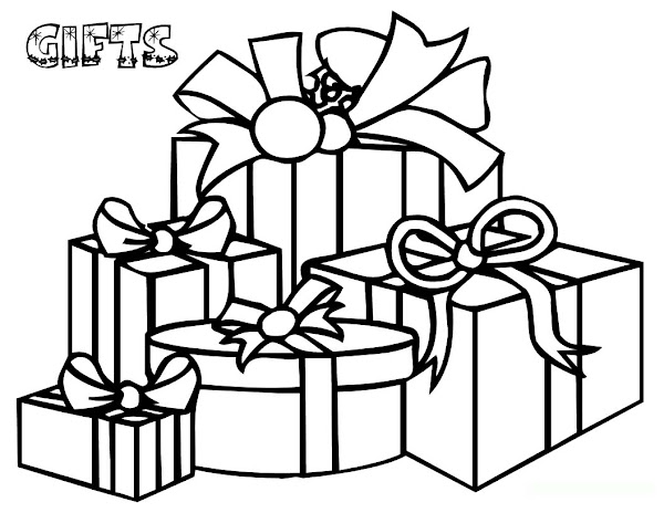 Santa And Christmas Stockings Coloring Pages