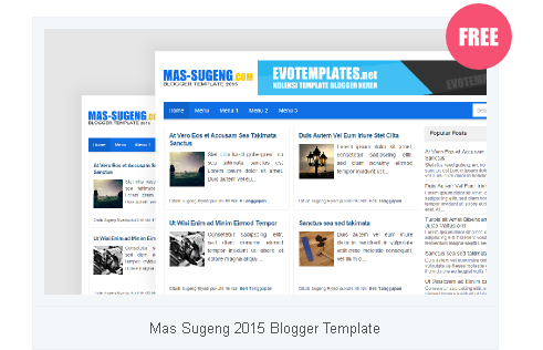 template blogger