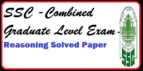 ssc graduate level exam paper- solved paper for reasoning aptitude