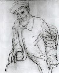 Picasso - Dibujo de Renoir