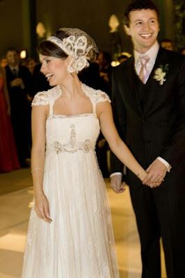 Fotos do vestido da noiva da Sandy