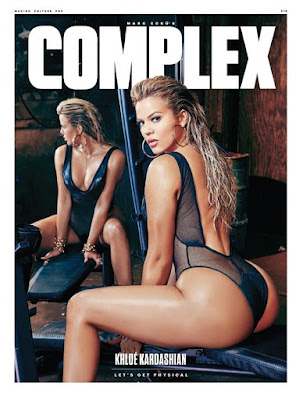 Khloe Kardashian sexy gyms for Complex magazine August September 2015 edition