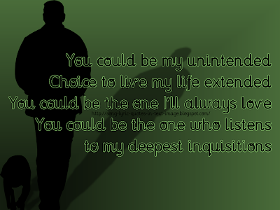 Unintended - Muse Song Lyric Quote in Text Image
