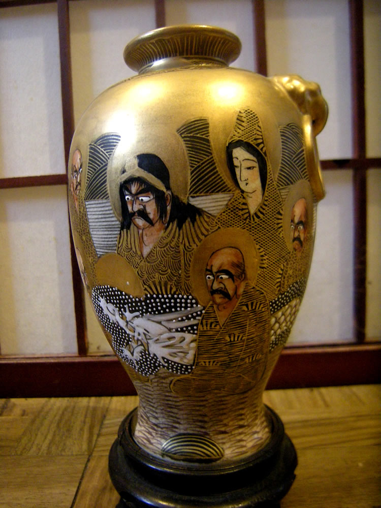 Thousand Faces Satsuma signed Hodada , aka Hodata, 保多田