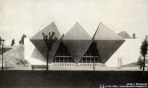 Bagneux - Chaufferie des Blagis, Cité des Tertres et Cuverons.  Architectes: André Gomis, Guillaume Gillet  Ingénieur: Vladimir Bodiansky  Construction: 1955 - 1959