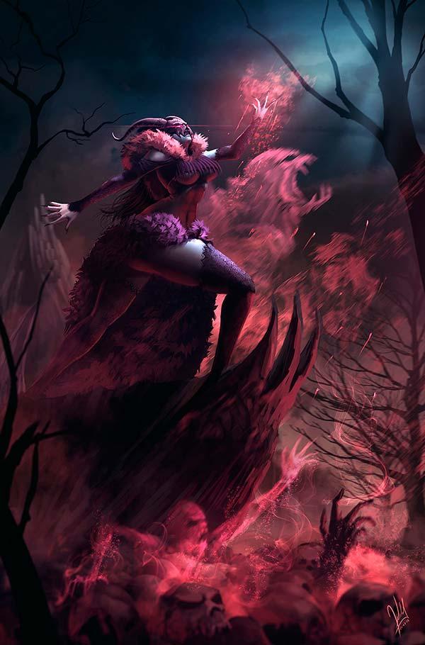 Ilustración, La Emperatriz de los Muertos de Alejandro Giraldo