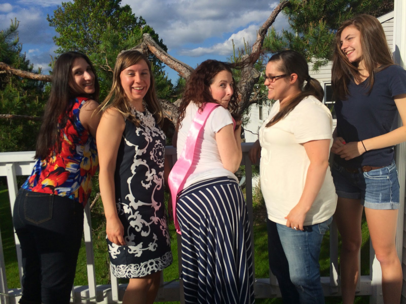 Doeblerghini Bunch:  Bridal Shower Picture Post - BM Picture with Butts!