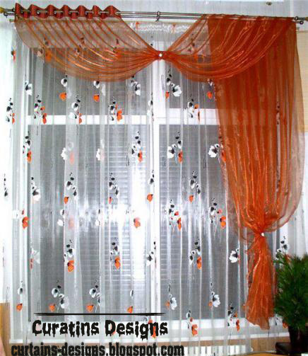 patterned window treatment orange kids curtain design