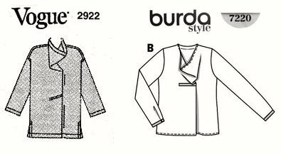 Issey Miyake's Vogue 2922 meets Burda Style 7220