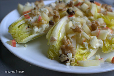 endive, apple walnut, roquefort salad