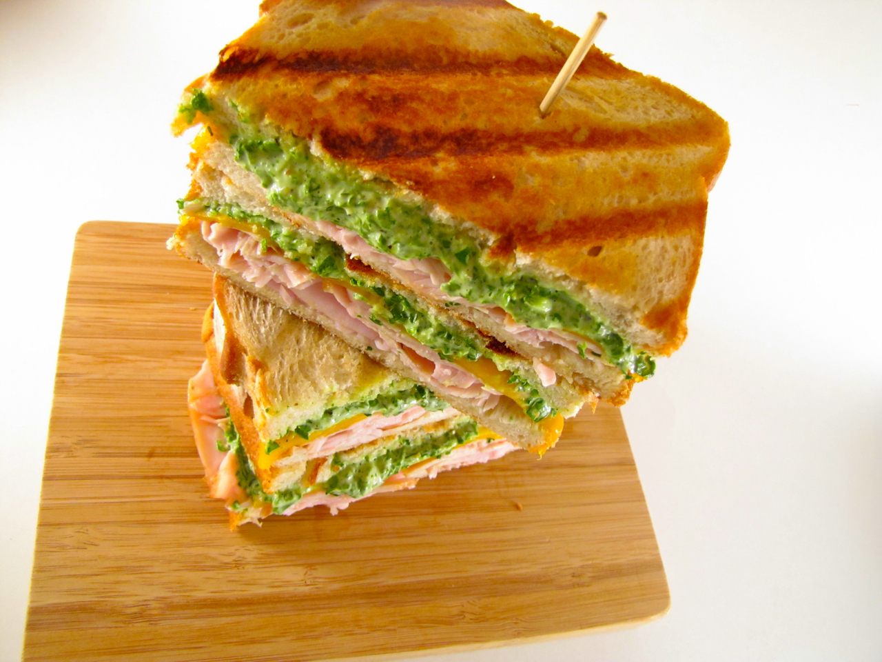 ChowGals: Smoked Turkey and Cheddar Cheese Panini