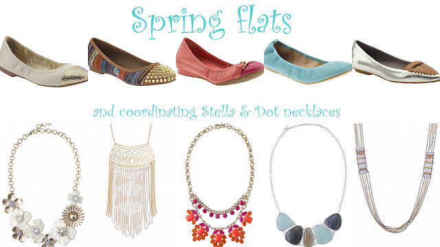 Spring flats and fun necklaces