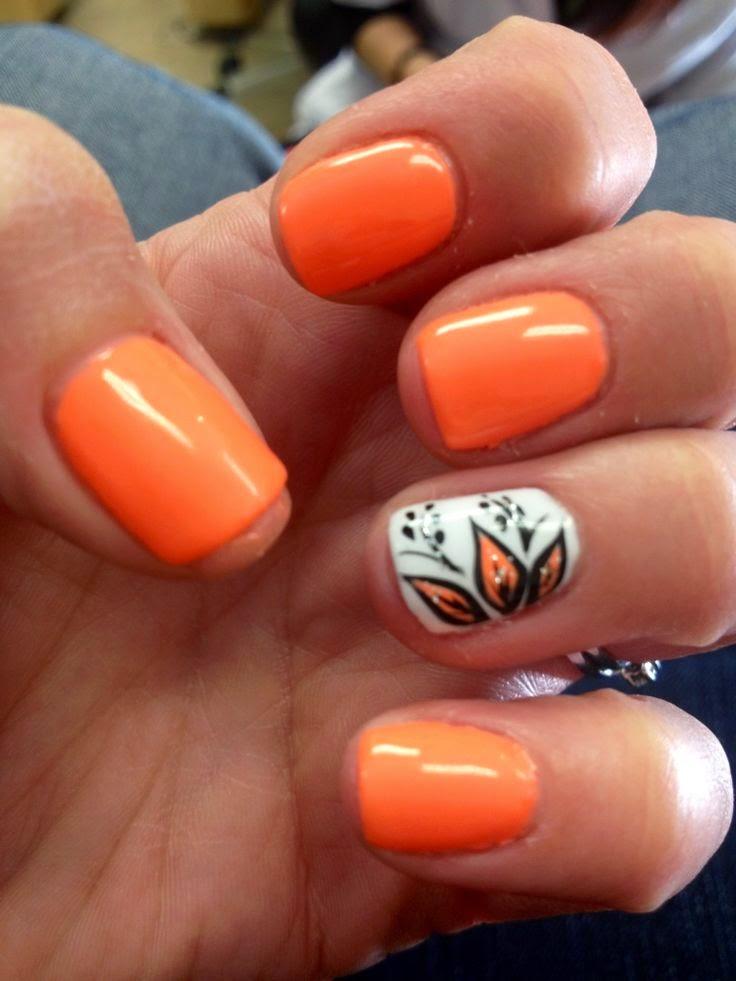 halloween chevron nails