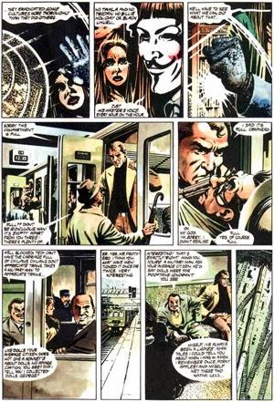 """paginas de """"V de Vendetta """"de Alan Moore y David Lloyd"""