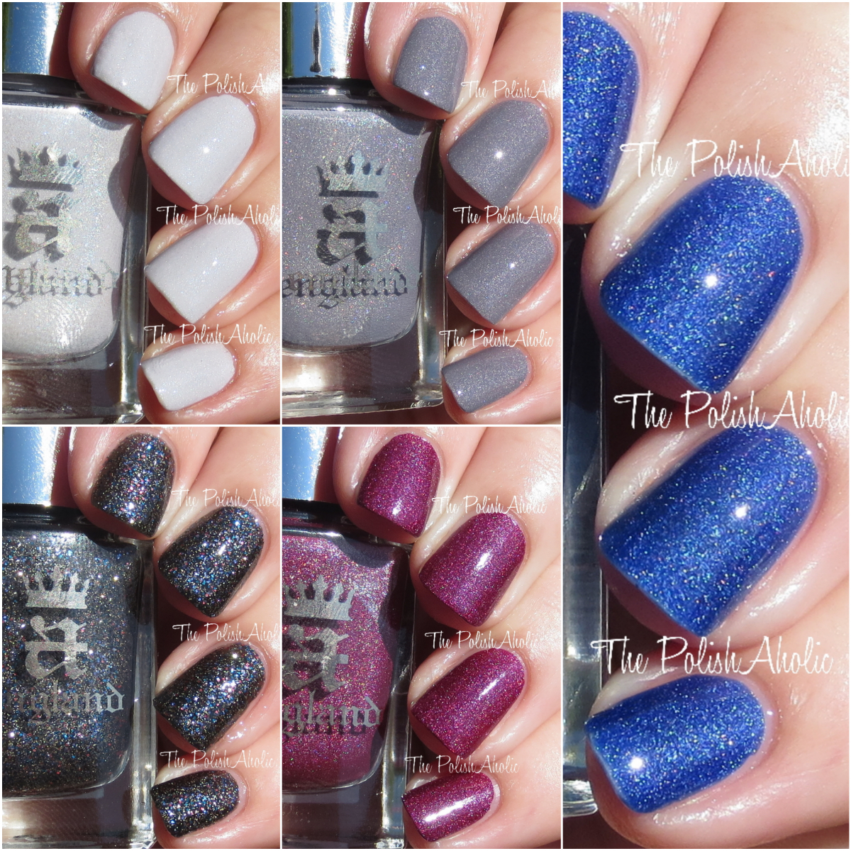 The PolishAholic: A England Emily Bronte Collection Swatches & Review
