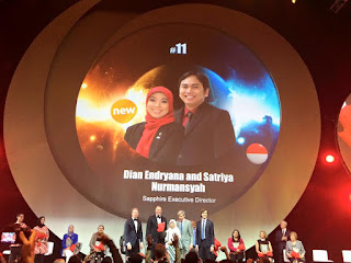 Global Top 15 Oriflame #11 Indonesia Dian Endryana dan Satriya Nurmansyah (Sapphire Executive Director)