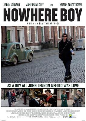 Cartel de la película Nowhere Boy sobre John Lennon