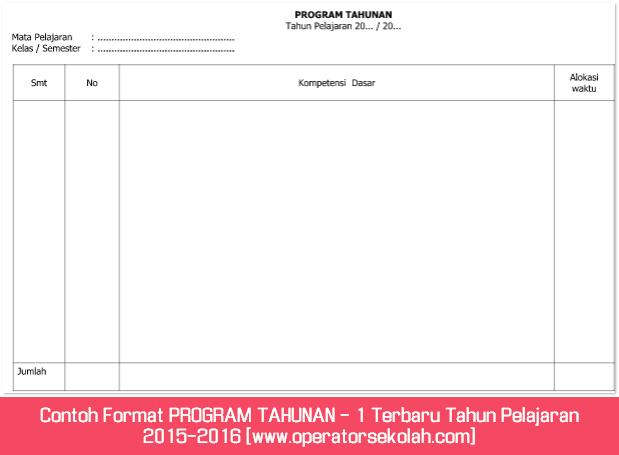 Contoh Format PROGRAM SEMESTER I - 1 Terbaru Tahun Pelajaran 2015-2016 [www.operatorsekolah.com]