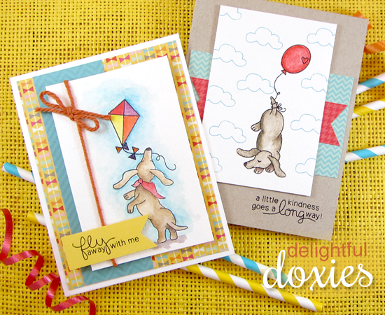 Dachshund Spring Cards by Jennifer Jackson | Delightful Doxies Stamp set by Newton's Nook Designs