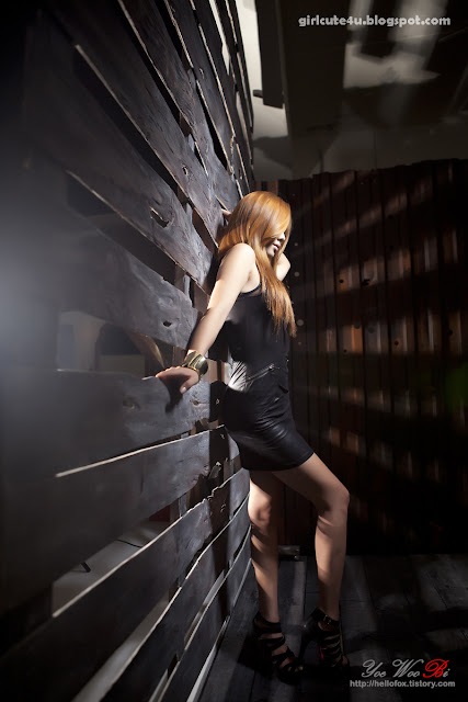 9 Kim Ha Yul-Leather Mini Dress-very cute asian girl-girlcute4u.blogspot.com